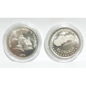 Razená pamätná minca - strieborná