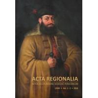 Acta Regionalia - interdisciplinárne vedecké periodikum I/XVII, 1 - 2, 2016